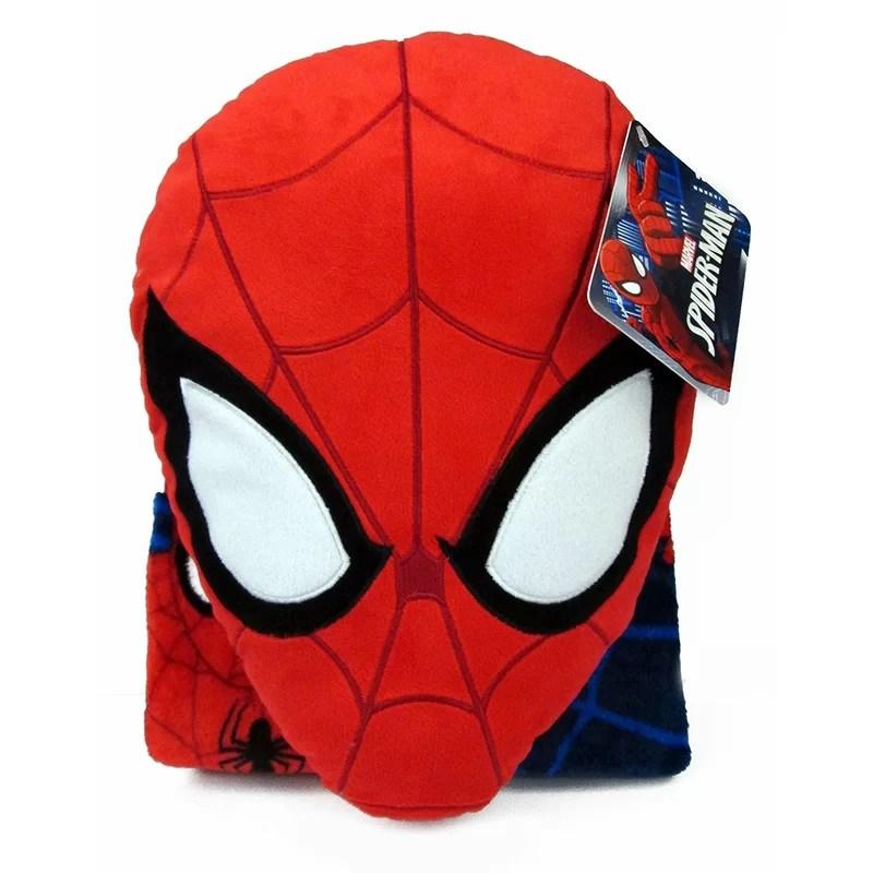 nogginz marvel spiderman pillow and blanket set