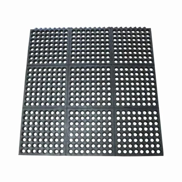 dura chef interlock 36 x 36 garage flooring drain tile in black