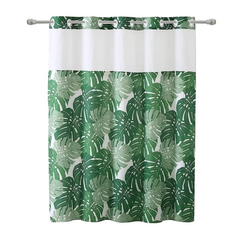 hookless shower curtain basketweave with peva liner