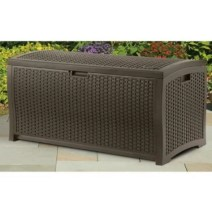 73 Gallon Resin Wicker Deck Box