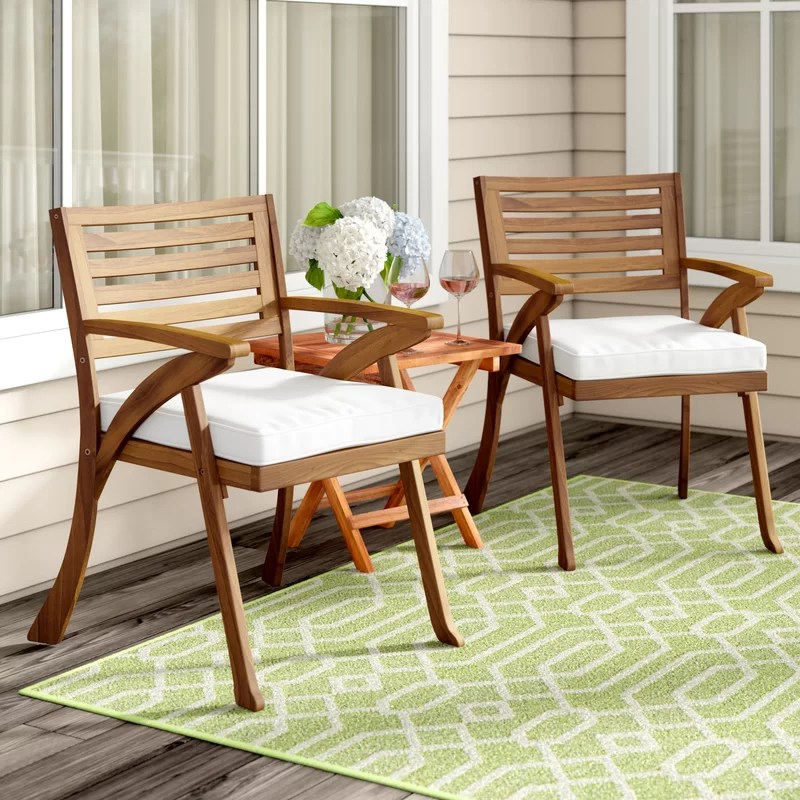 coyne patio dining chair with cushion