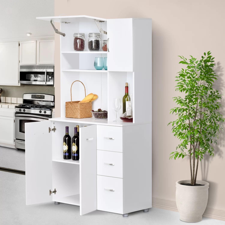 2 door storage cabinet wood server