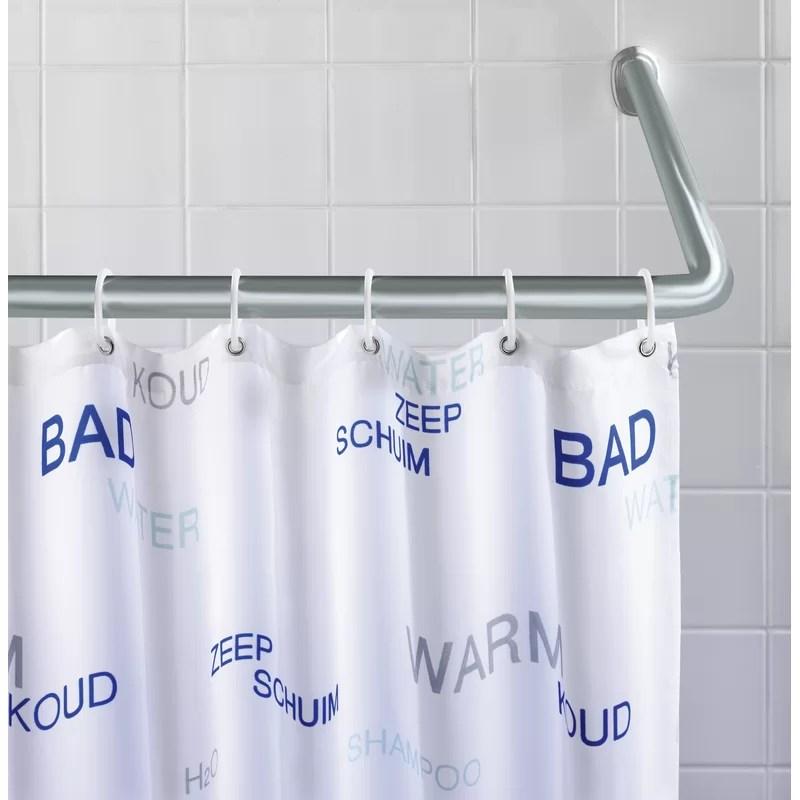 adalira 90cm u shaped fixed shower curtain rail