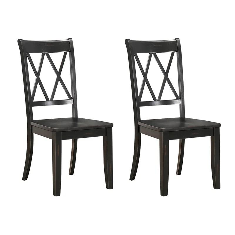 Cheryll Solid Wood Cross Back Side Chair