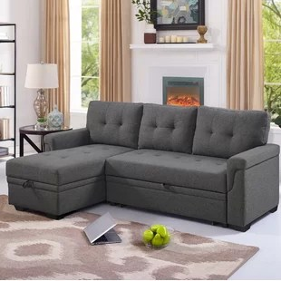 efim 86 wide reversible sleeper sofa chaise