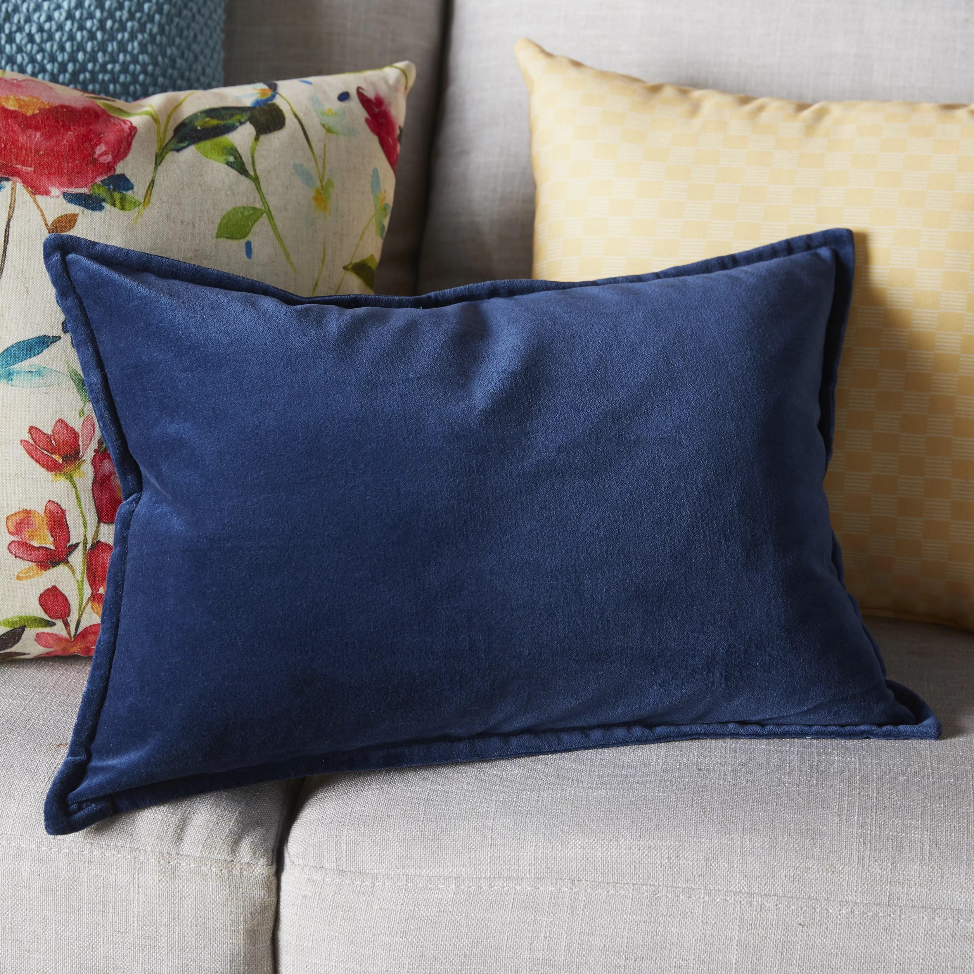 lumbar navy throw pillows free shipping over 35 wayfair