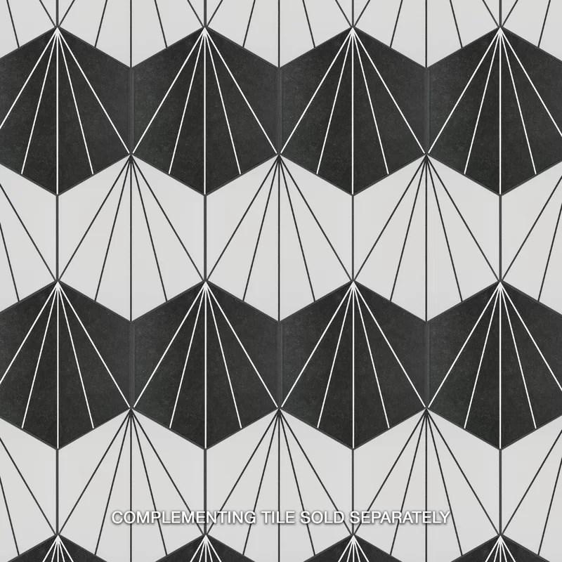 black and white tiles design