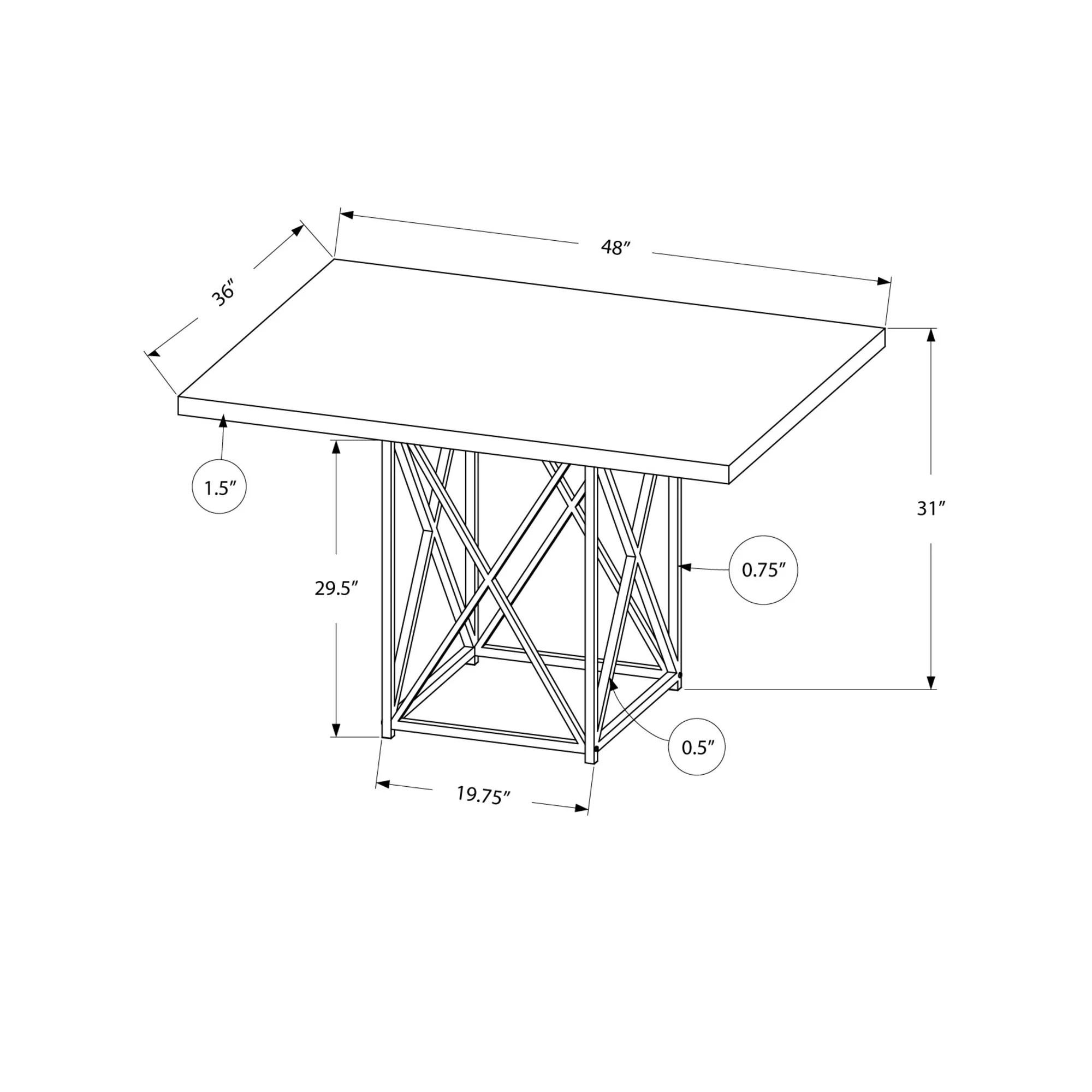 Monarch Specialties Inc Kenton Dining Table Amp Reviews