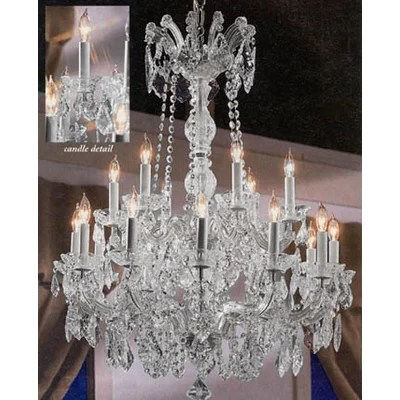 Harrison Lane Maria Theresa 18 Light Crystal Chandelier Reviews Wayfair
