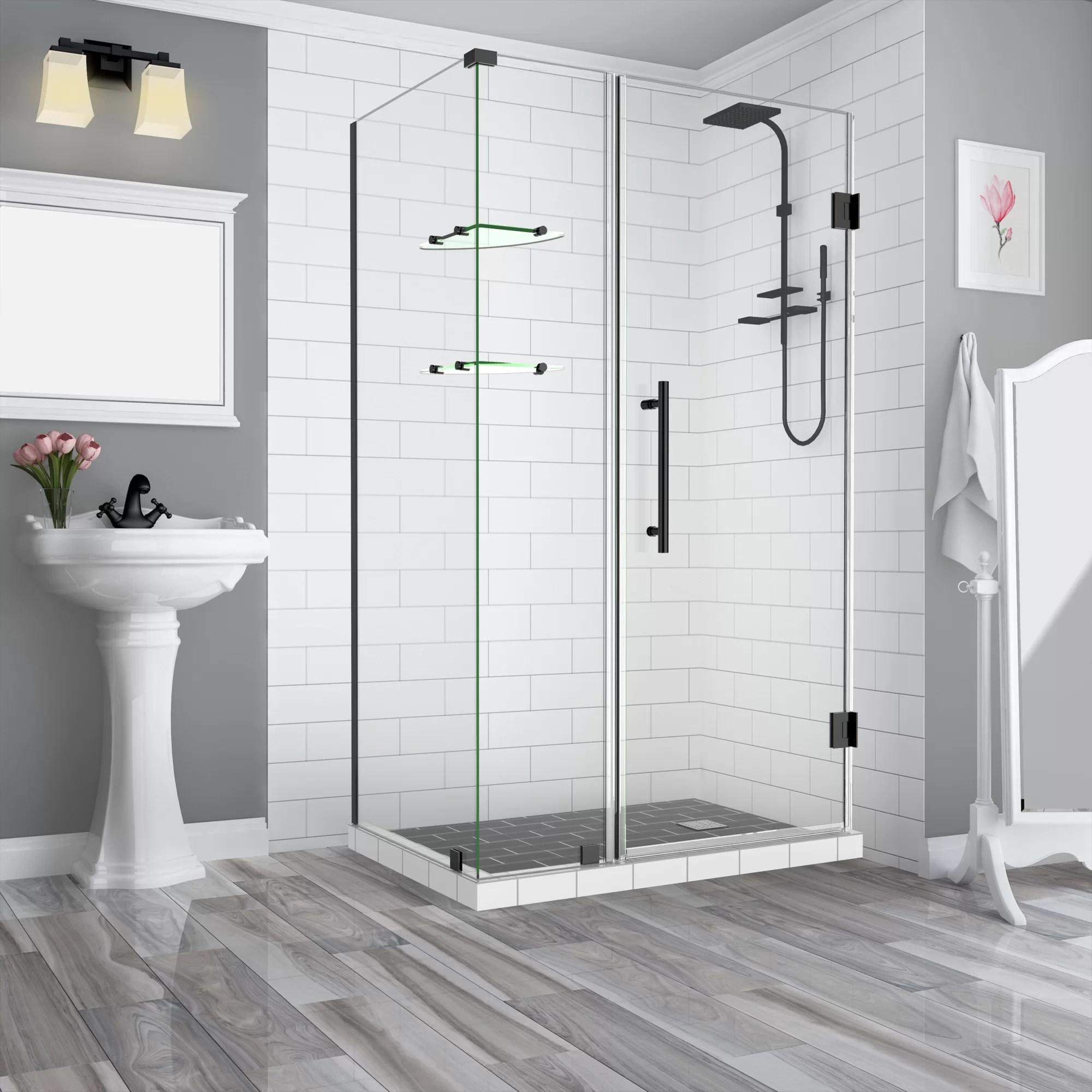 Details About Aston Bromley Gs 69 X 72 Hinged Semi Frameless Shower Door Oil Rubbed Bronze
