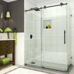 Details About 48 Wx76 H Coraline Single Sliding Semi Frameless Shower Door Oil Rubbed Bronze