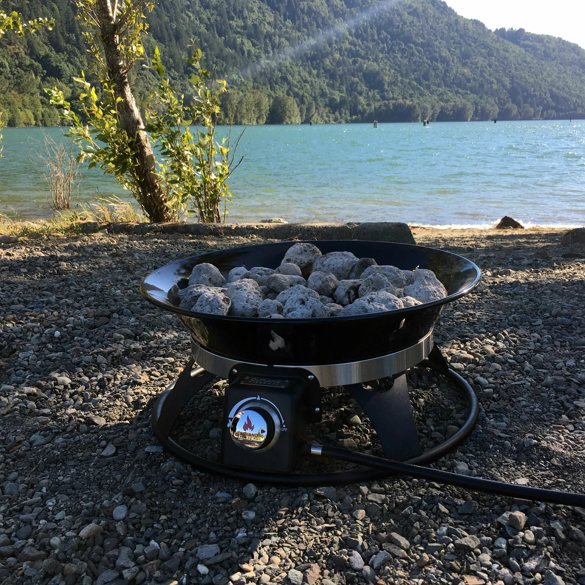 Outland Living Cypress Steel Propane Fire Pit 873975008636 ... on Outland Living Cypress Fire Pit id=27958