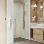 Details About Cameo Adjustable 40 13 X 73 38 Frameless Pivot Shower Door Stainless Steel