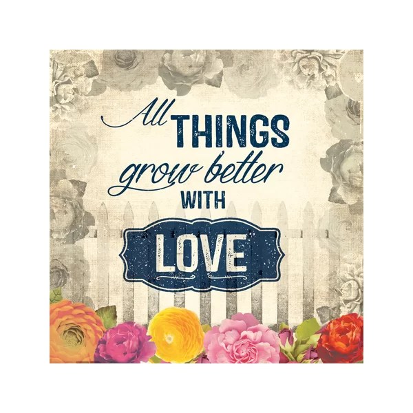 Download All Things Grow Better with Love Canvas Art | Joss & Main