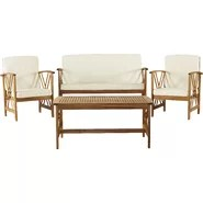 4 Piece Deep Seating Group with Cushions
