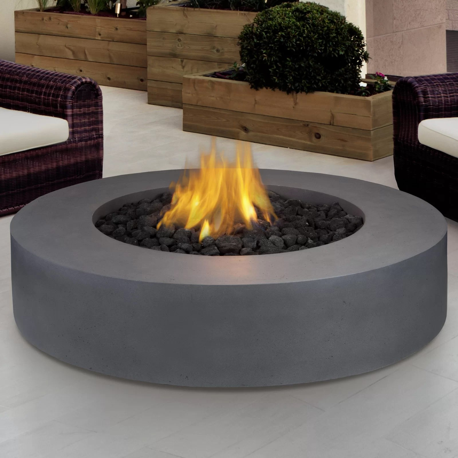 Real Flame Mezzo Propane Fire Pit Table & Reviews | Wayfair on Living Room Fire Pit id=85349