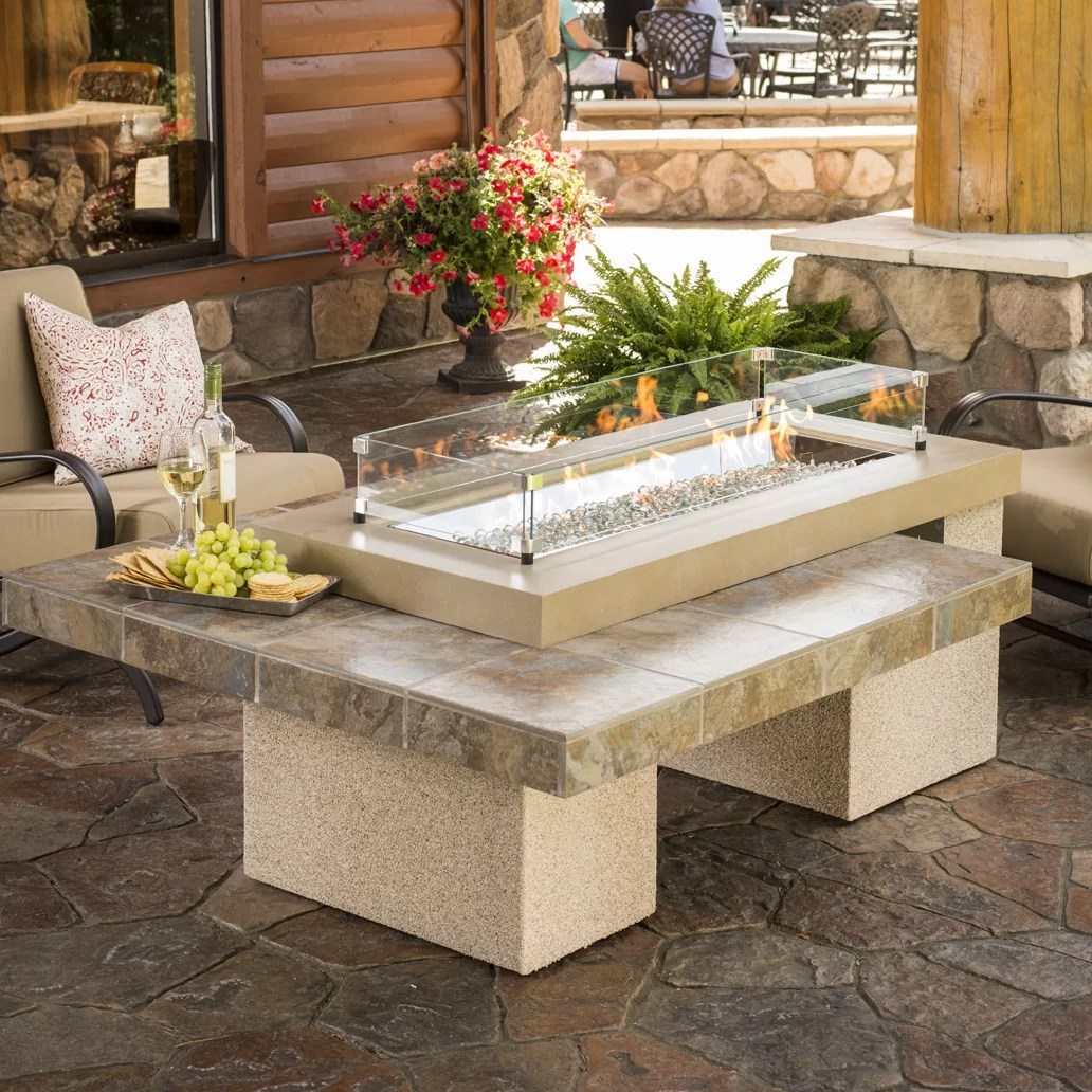 The Outdoor GreatRoom Company Uptown Crystal Fire Pit ... on Outdoor Dining Tables With Fire Pit id=73674