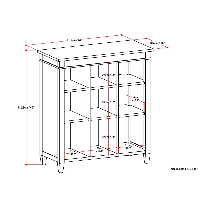 Simpli Home Carlton 46 Cube Unit Bookcase Amp Reviews