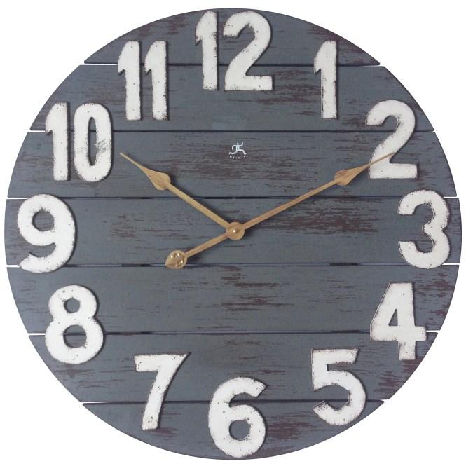 23 75 Round Gray White Wall Clock