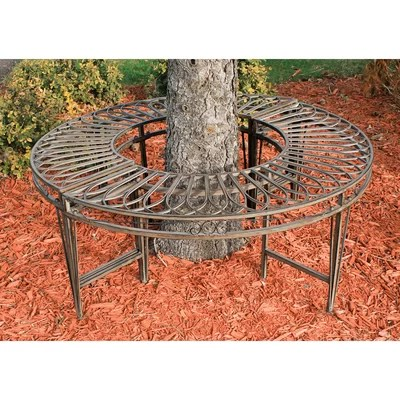 steel roundabout garden bench Design Toscano Gothic Roundabout Steel Garden Bench