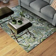 Pearl Ivory/Green Indoor/Outdoor Area Rug