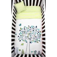 Apple Tree Organic Baby Microfiber Duvet 4 Piece Crib Bedding Set