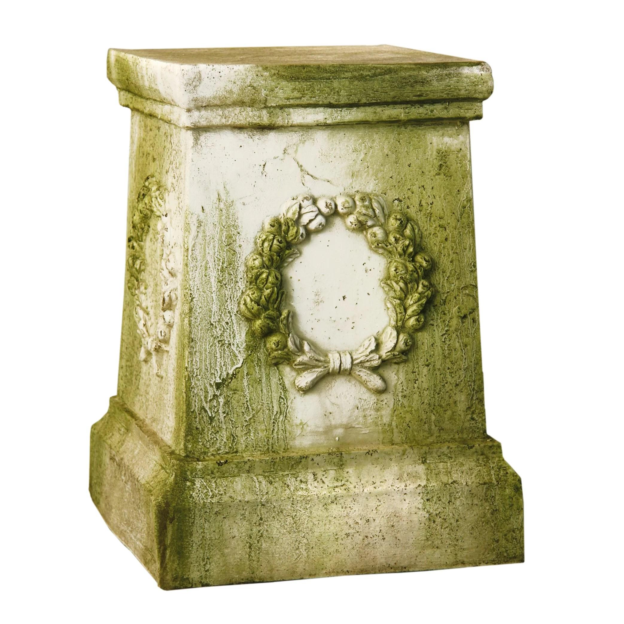 Orlandistatuary Wreath Outdoor Pedestal Amp Reviews