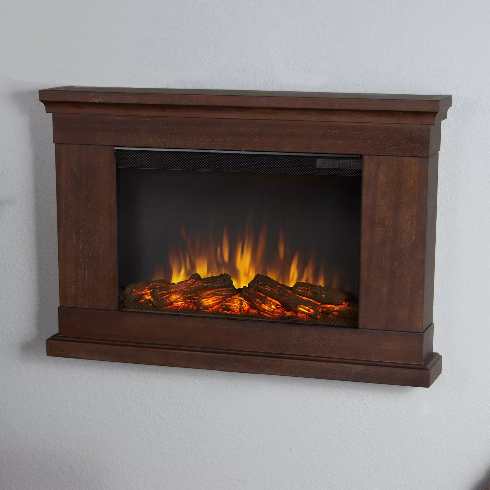 Real Flame Slim Wall Mount Electric Fireplace Amp Reviews