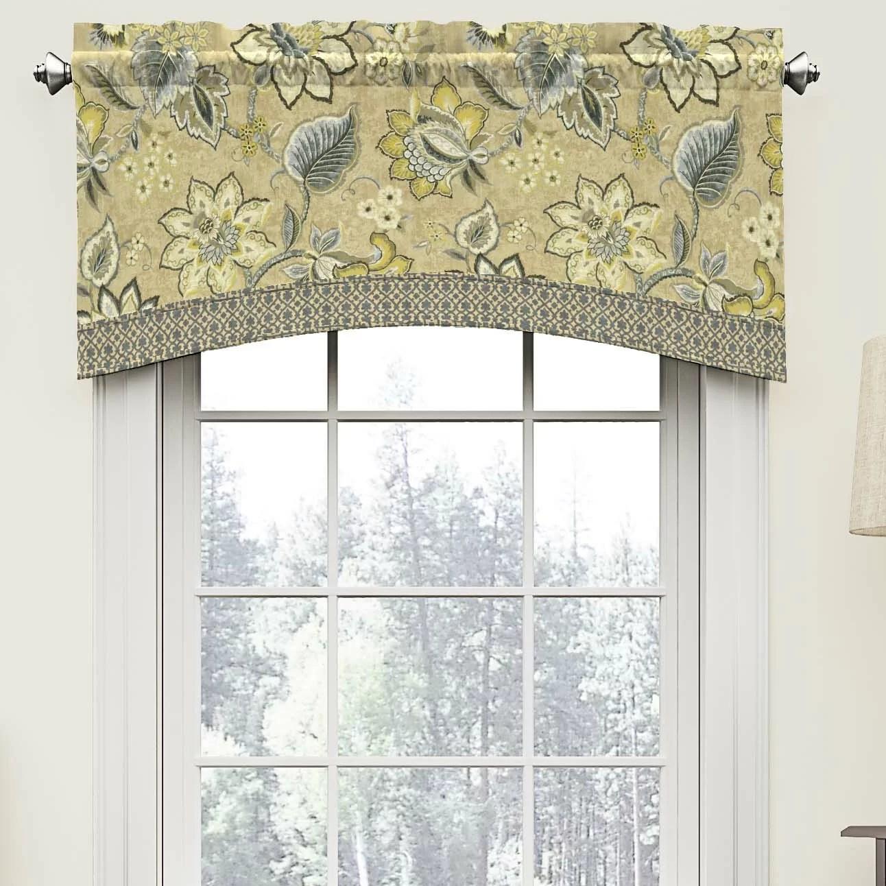 Waverly Brighton Blossom 52 Arched Curtain Valance