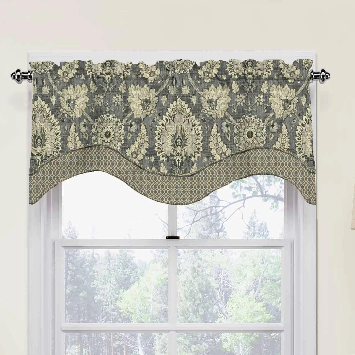 Waverly Clifton Hall 52 Scalloped Curtain Valance