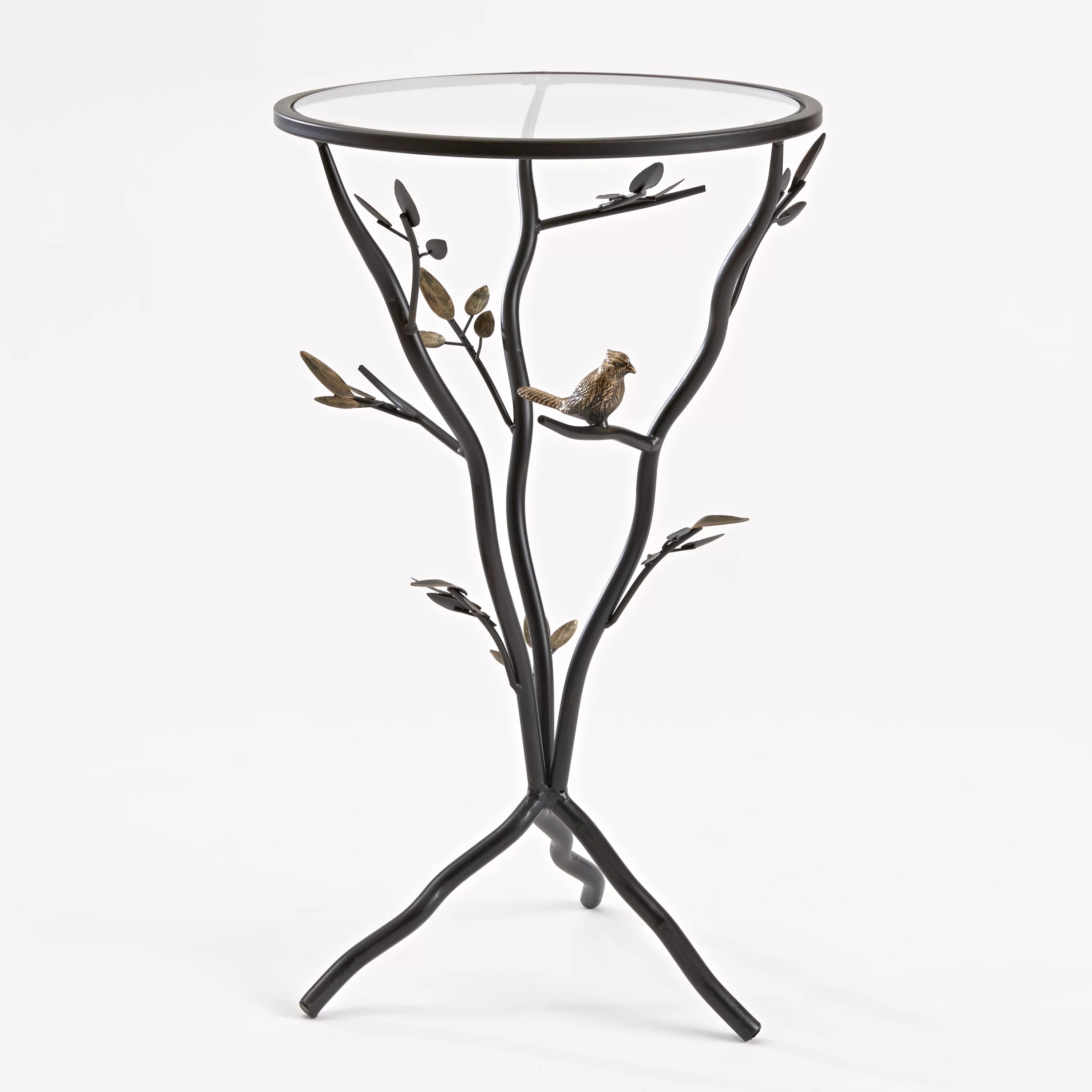 Innerspace Luxury Products Glass Bird Table With Removable