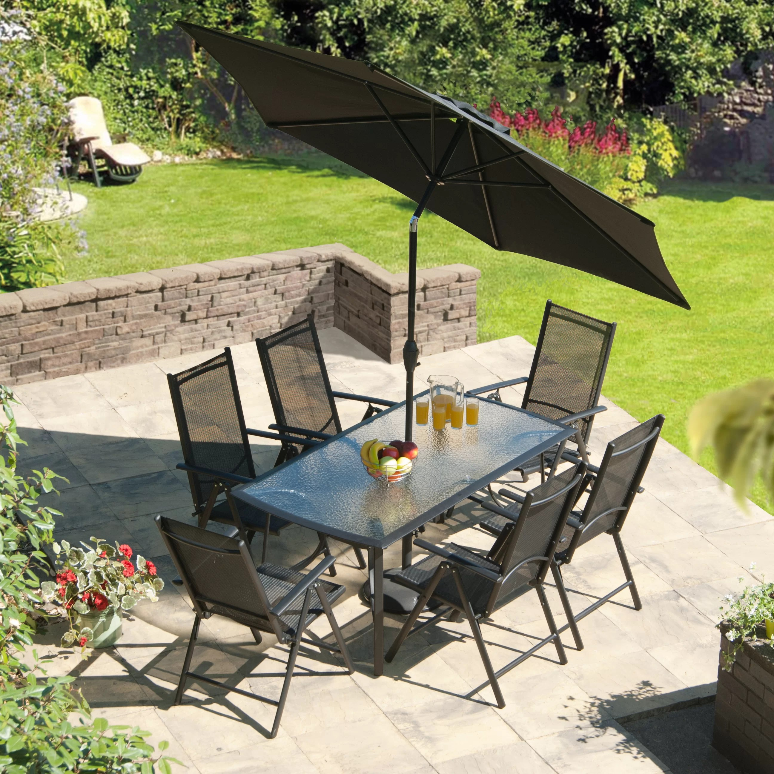 SunTime Outdoor Living Capri 8 Piece Dining Set & Reviews ... on Suntime Outdoor Living  id=23259