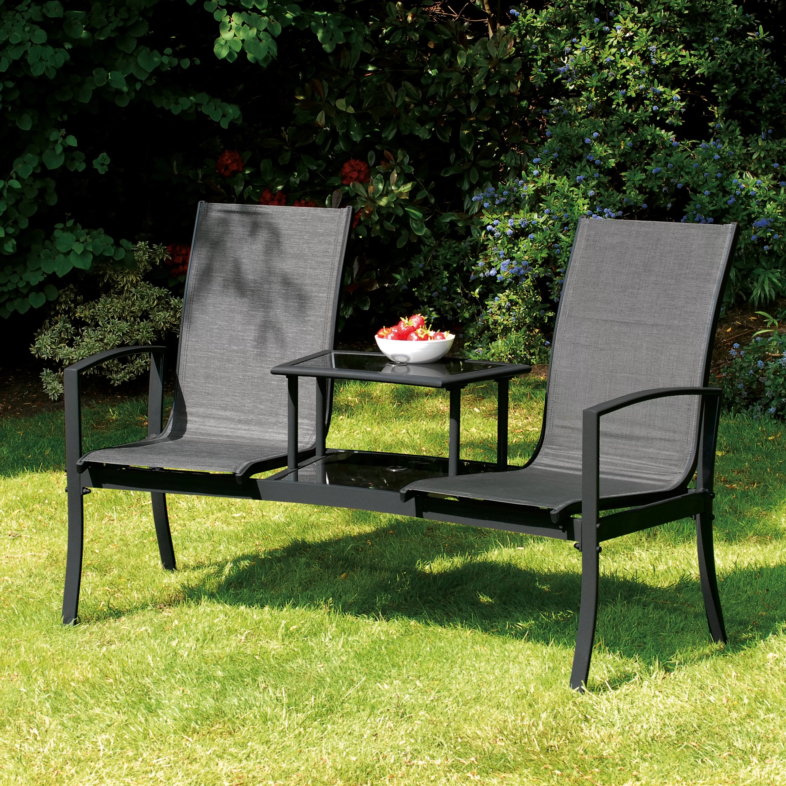 SunTime Outdoor Living Havana Steel Tete-a-Tete Bench ... on Suntime Outdoor Living  id=53533