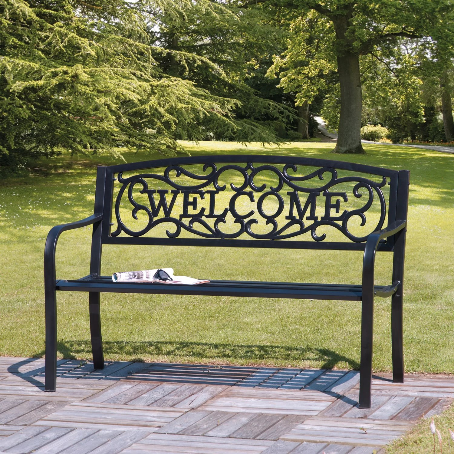 SunTime Outdoor Living Cast Iron Garden Bench & Reviews ... on Suntime Outdoor Living  id=87314