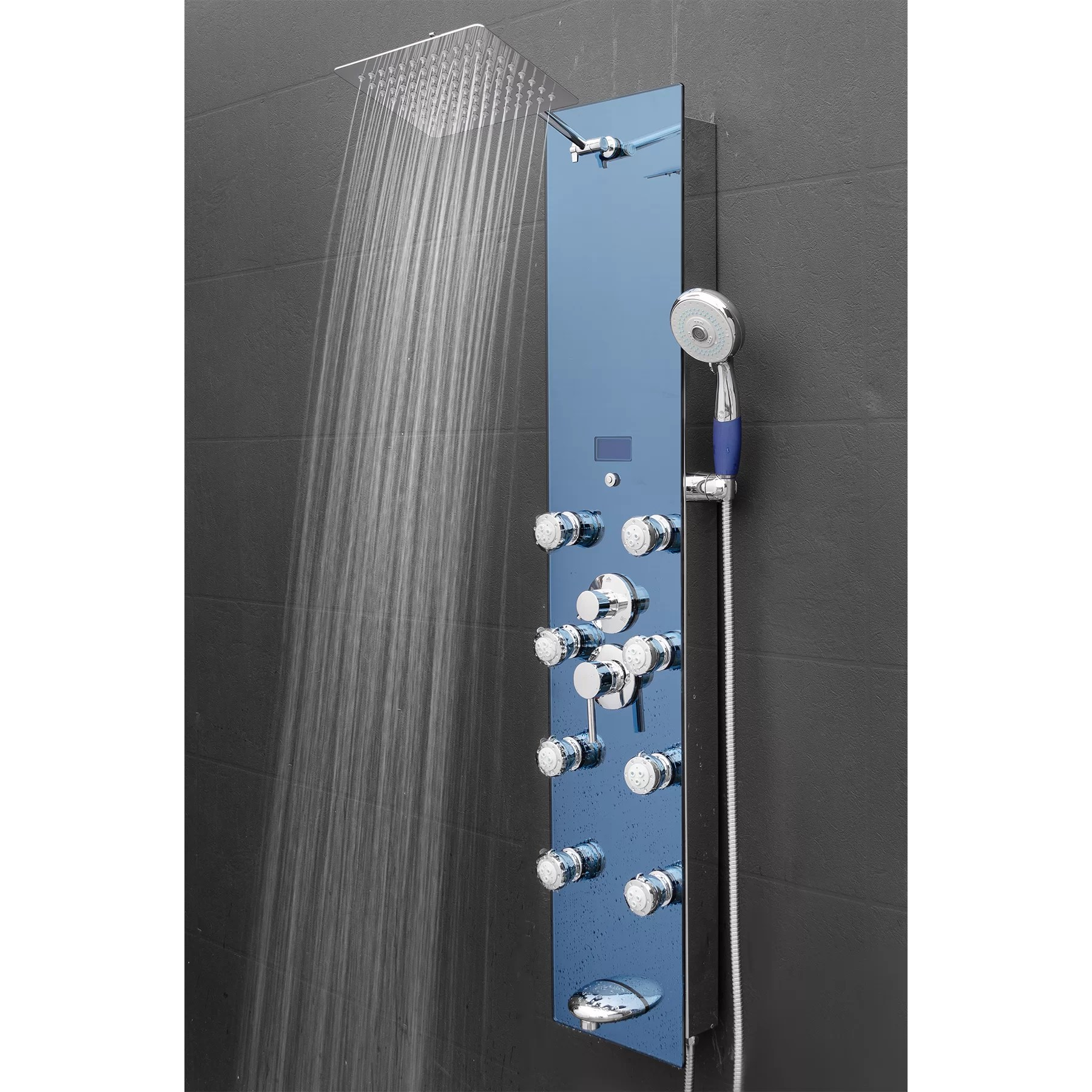 AKDY Tower Rainfall Shower Panel System Amp Reviews Wayfairca