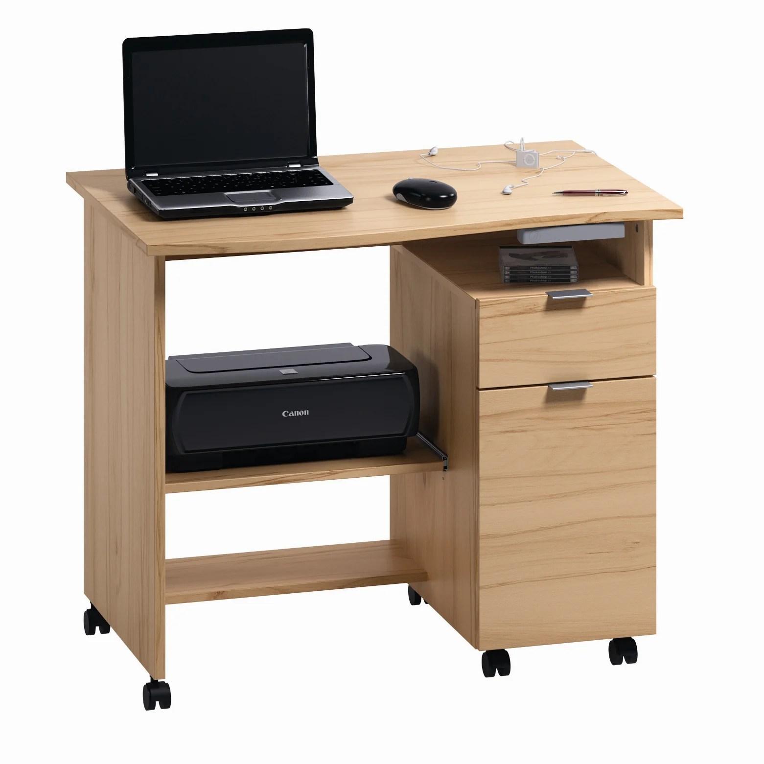 Computertisch Mit Rollen Computertisch Stagnola In Eiche