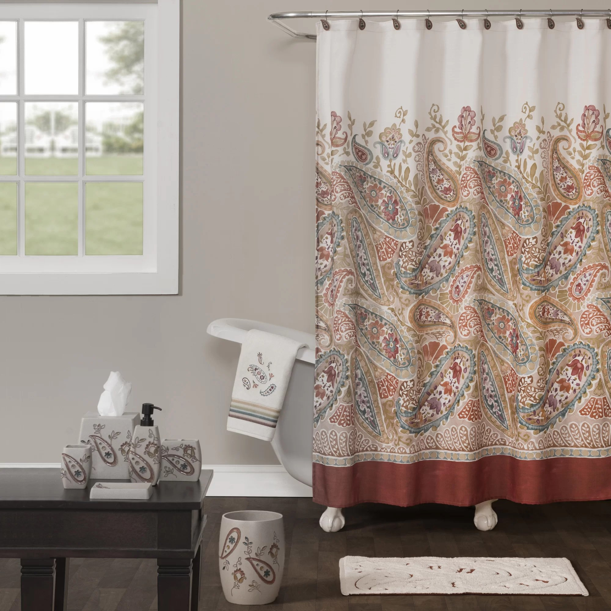 Saturday Knight Persia Shower Curtain Wayfair