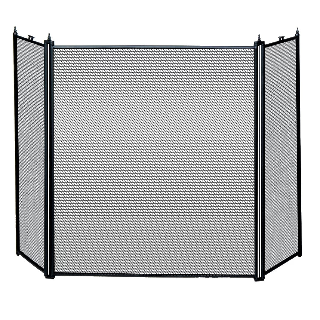 Blue Rhino Uniflame 3 Panel Metal Fireplace Screen