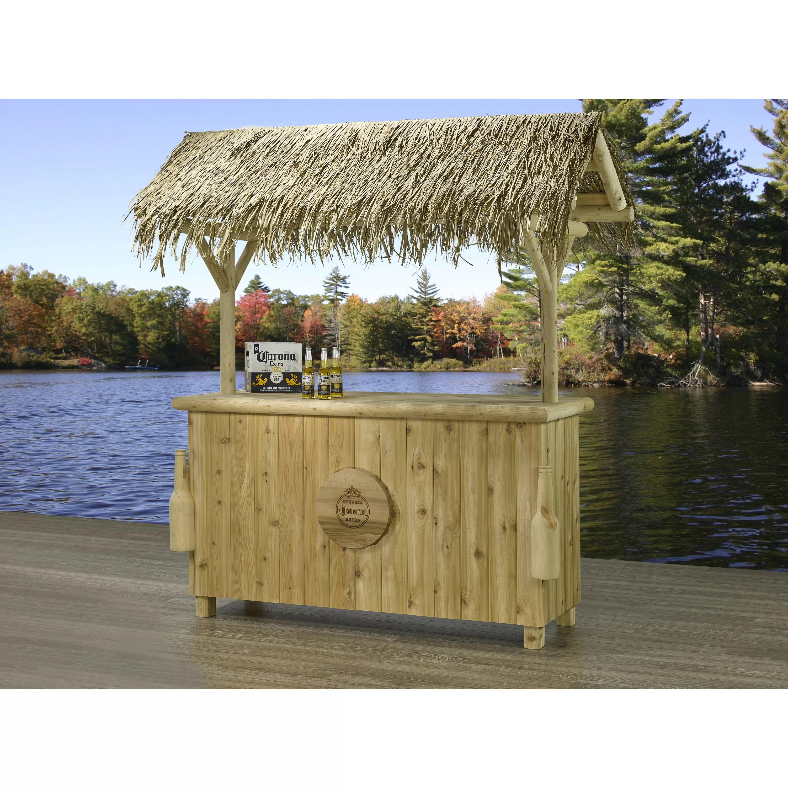 Corona 3 Piece Tiki Bar Set | Wayfair on Backyard Tiki Bar For Sale id=20259