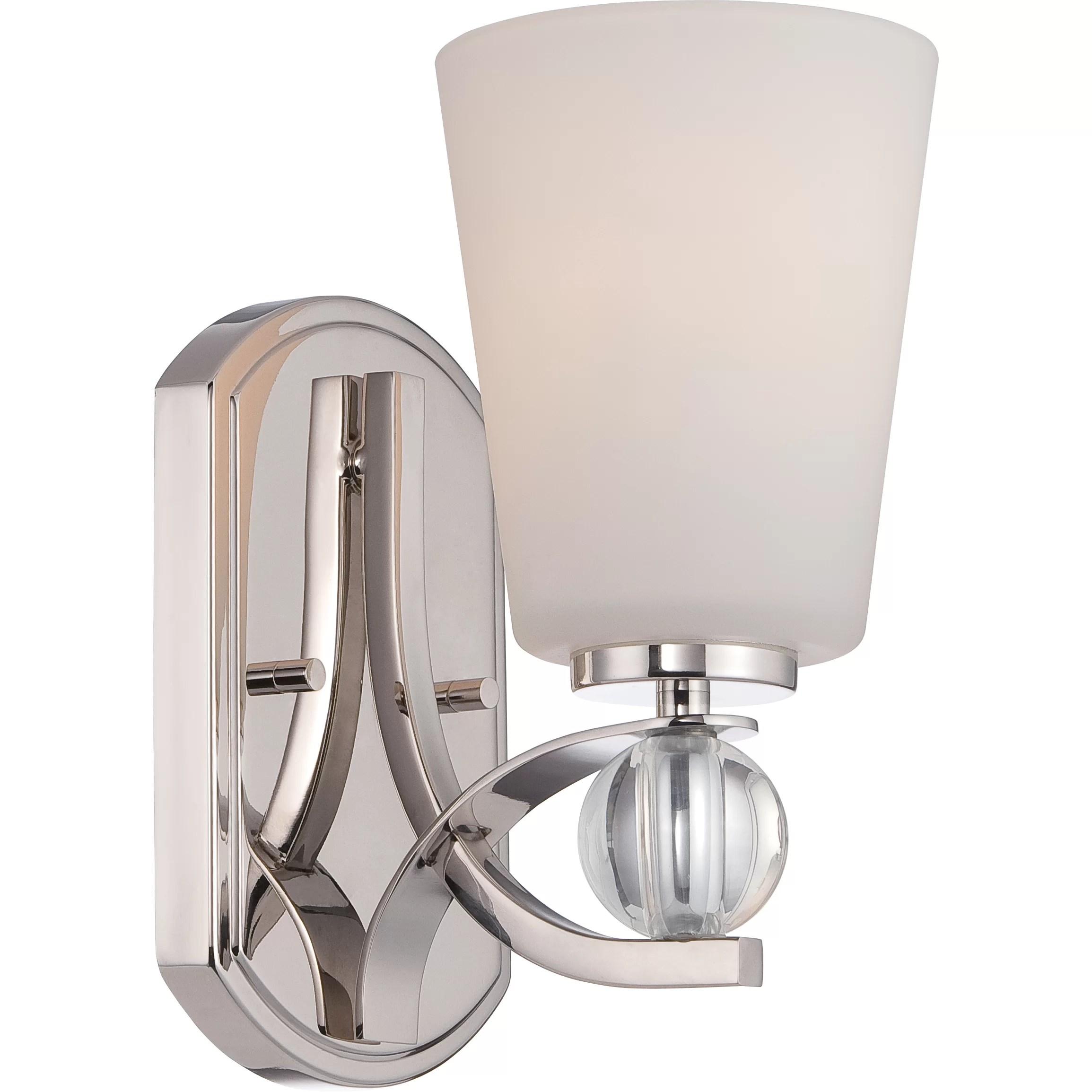 Nuvo Lighting Connie 1 Light Bath Sconce & Reviews   Wayfair on Wayfair Bathroom Sconces id=77736