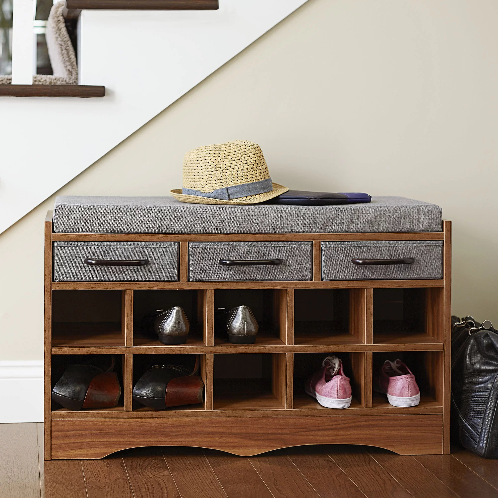 Household Essentials Entryway Shoe Storage Bench Amp Reviews