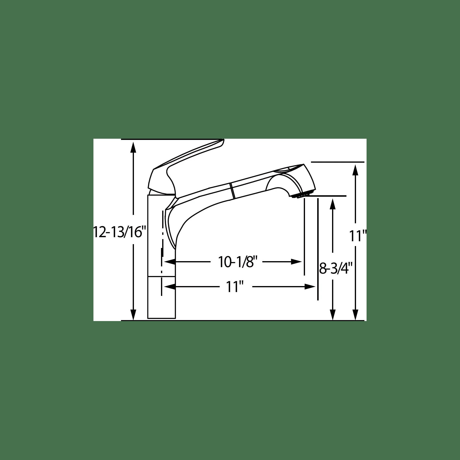 Elkay Gourmet Single Handle Deck Mount Kitchen Faucet
