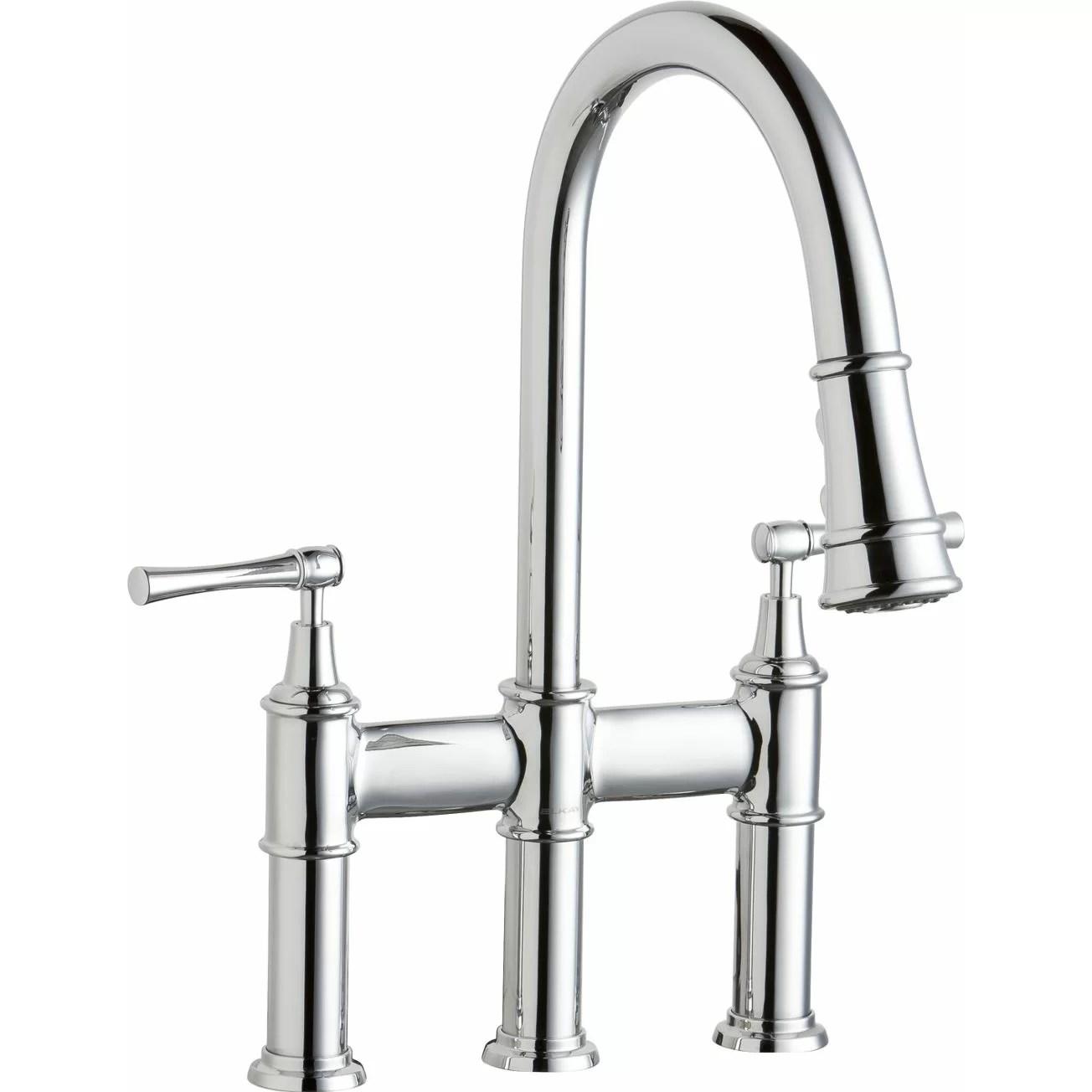 Elkay Explore Double Handle Deck Mount Kitchen Faucet