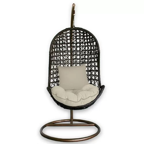 outdoor patio swing chair with stand Patio Heaven Skye Bird's Nest Swing Chair with Stand