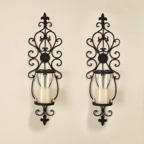 AdecoTrading Iron Wall Sconce Candle Holder & Reviews ... on Wall Sconces Candle Holders id=78132