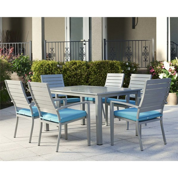 outdoor patio 7 piece dining set Outdoor 7 Piece Dining Set with Cushion | Wayfair