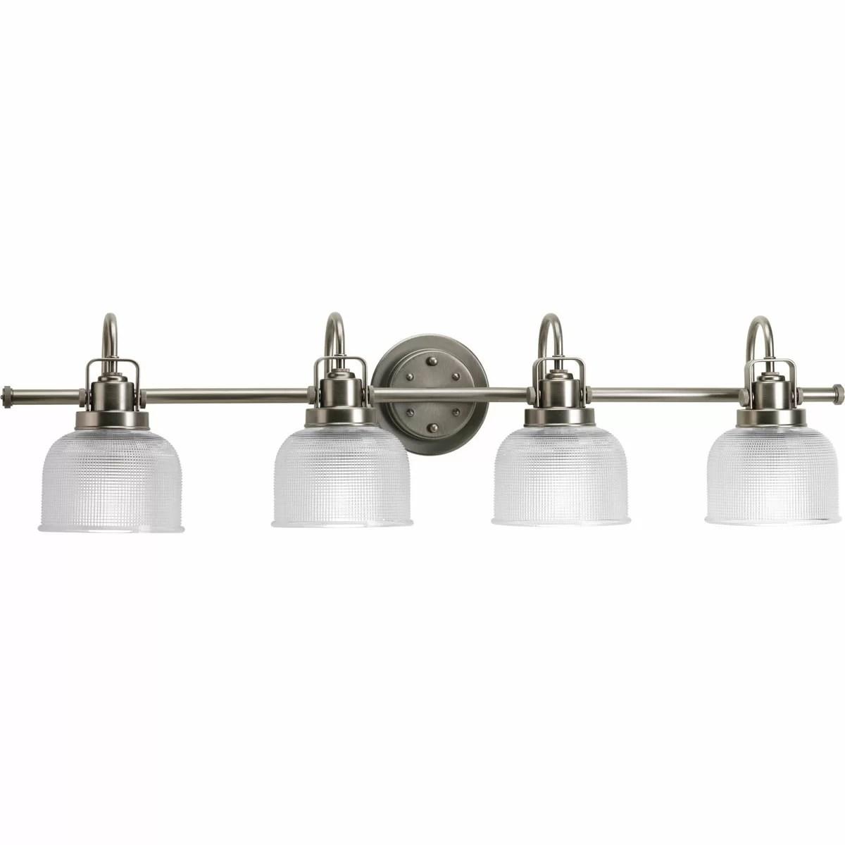 Mercury Row Williamson 4 Light Bath Vanity Light & Reviews ... on Wayfair Bathroom Sconces id=64266