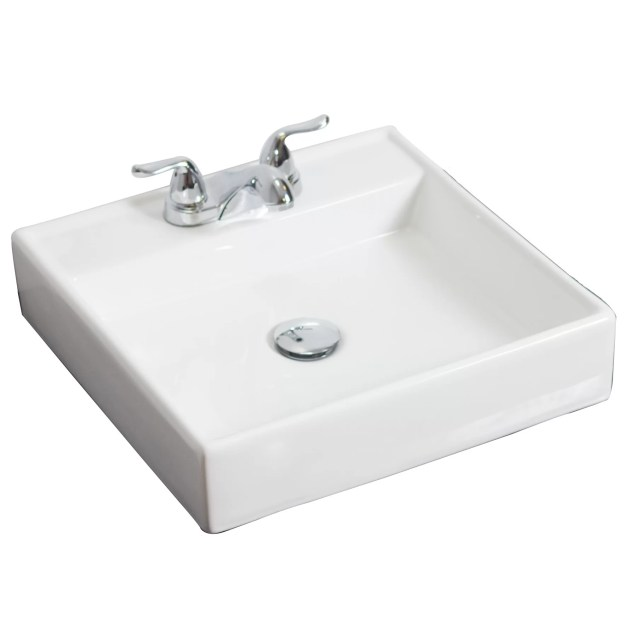 Bathroom Sink Counter above counter rectangle vessel