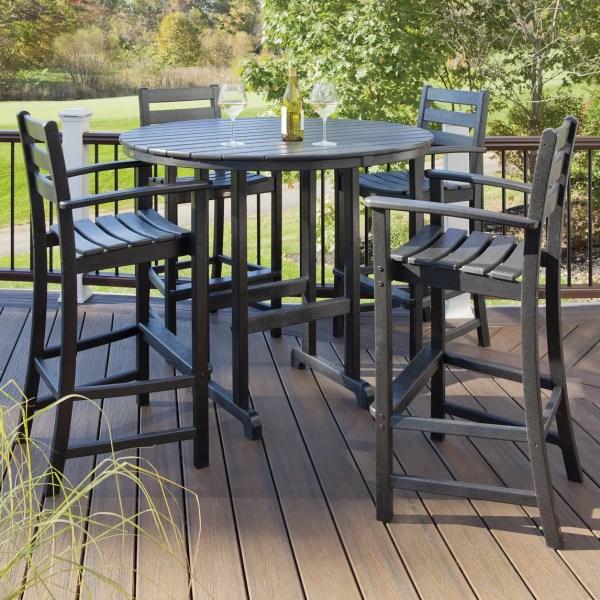 5 piece outdoor patio bar set Breakwater Bay Promfret Outdoor 5 Piece Bar Height Dining