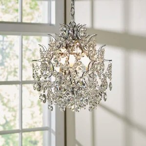 Clea 3 Light Crystal Chandelier